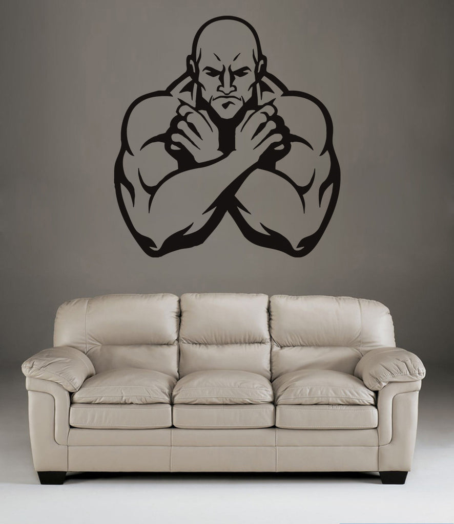 ik1389 Wall Decal Sticker male fitness gym room Bedroom