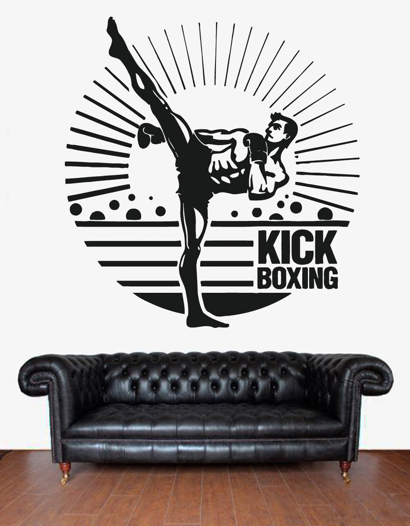 ik1394 Wall Decal Sticker kick boxing boxing ring Gloves Tournament gym