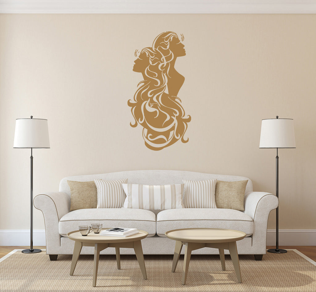ik1408 Wall Decal Sticker Gemini zodiac sign bedroom living room