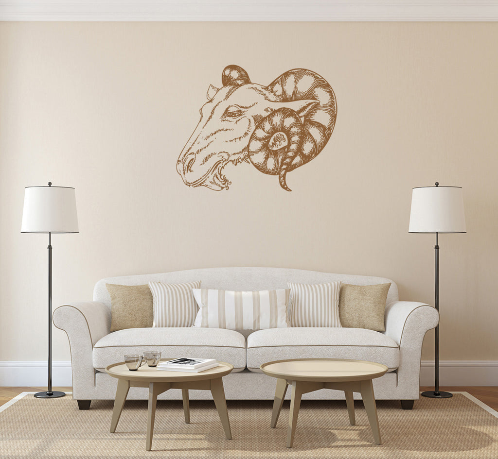 ik1420 Wall Decal Sticker Aries zodiac sign ram bedroom living room