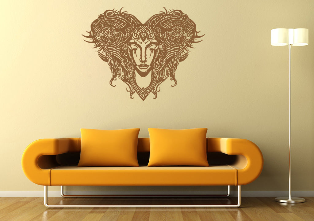 ik1424 Wall Decal Sticker Aries zodiac sign ram bedroom living room