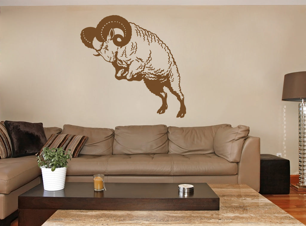 ik1428 Wall Decal Sticker Aries zodiac sign ram bedroom living room