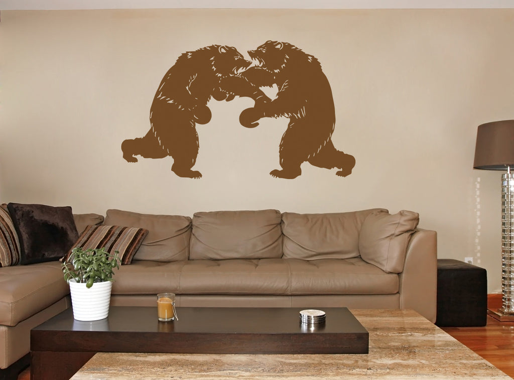 ik1441 Wall Decal Sticker boxing bears sport strength bedroom sports hall