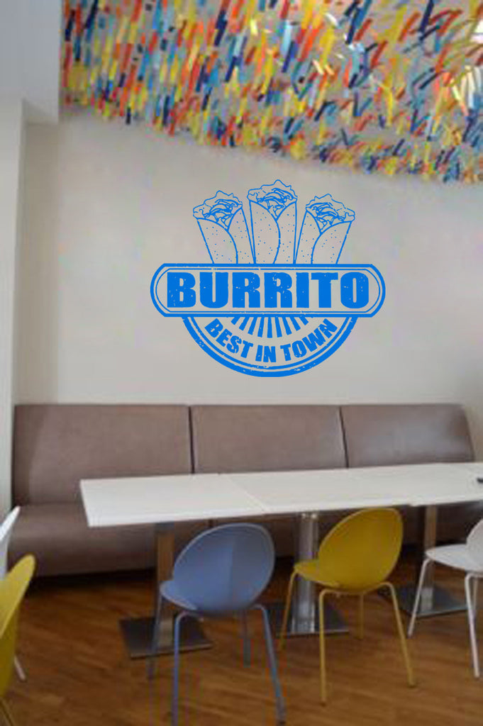 ik1446 Wall Decal Sticker fast food burrito eatery fast food