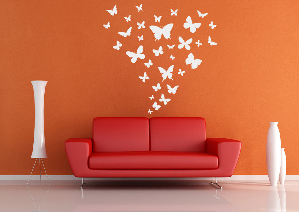 ik1482 Wall Decal Sticker butterflies insects children's bedroom living room