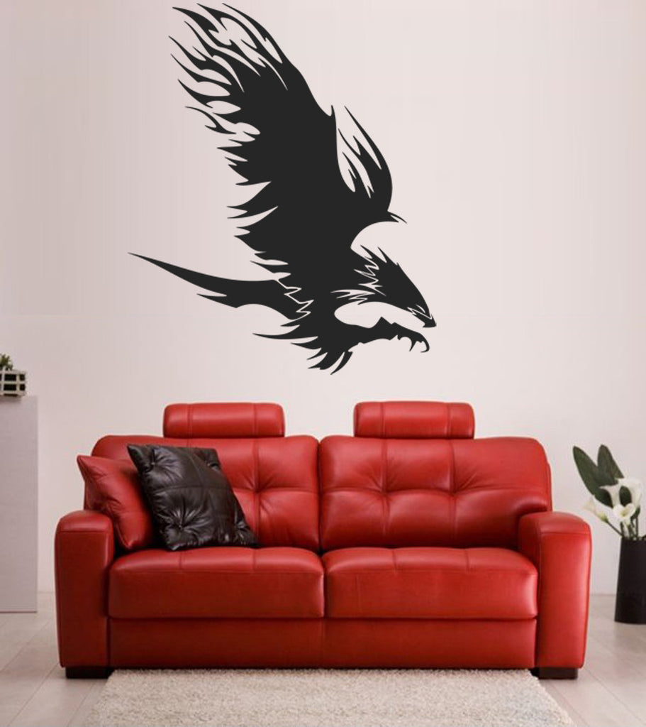 ik1485 Wall Decal Sticker Eagle soaring bird tattoo style bedroom living room