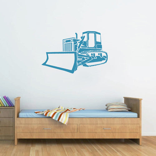 ik1493 Wall Decal Sticker bulldozer transportation machine building bedroom
