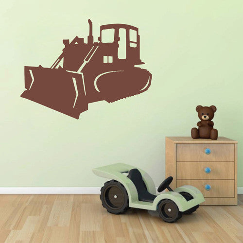 ik1499 Wall Decal Sticker Front bulldozer transport machine bedroom