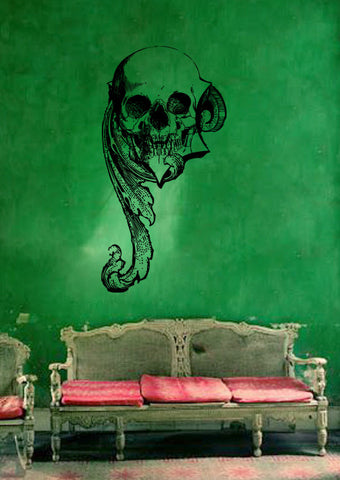 ik150 Wall Decal Sticker Decor Art Mural skull monograms interior bed