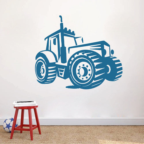 ik1514 Wall Decal Sticker Tractor Working transport rack machine bedroom