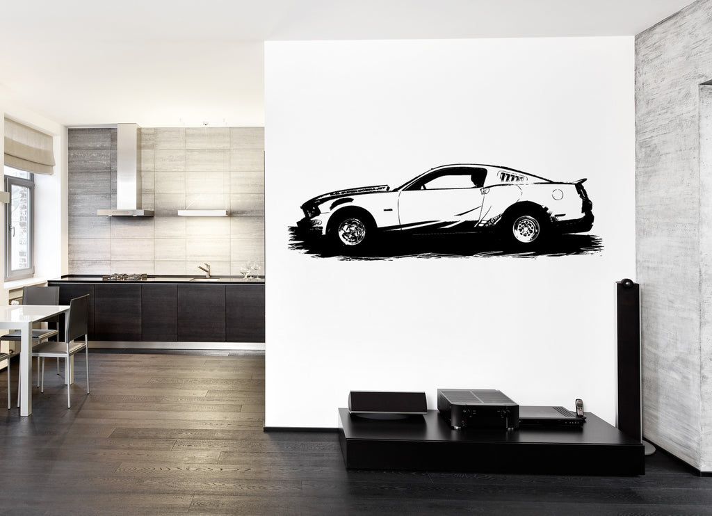 ik151 Wall Decal Sticker Decor Art Mural sport car auto garage mechanism