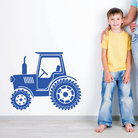ik1521 Wall Decal Sticker Tractor Working transport rack machine bedroom