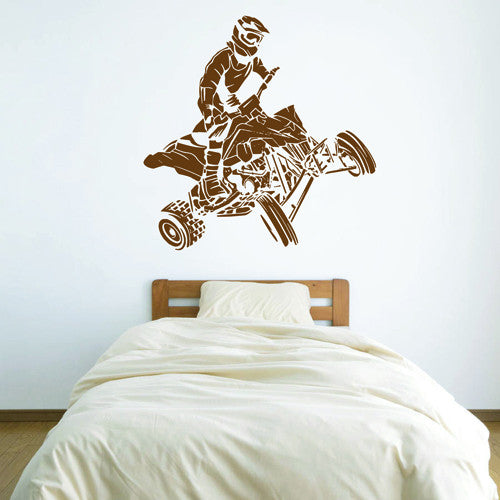 ik1527 Wall Decal Sticker ATV rider race living room bedroom bedroom