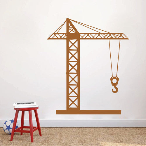 ik1543 Wall Decal Sticker tower crane machine work building a bedroom