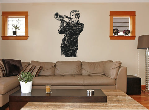 ik154 Wall Decal Sticker Decor jazz musician piano music thirties to interior