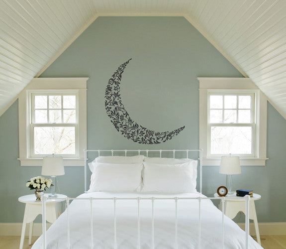 ik1557 Wall Decal Sticker month moon night sky stars living room bedroom