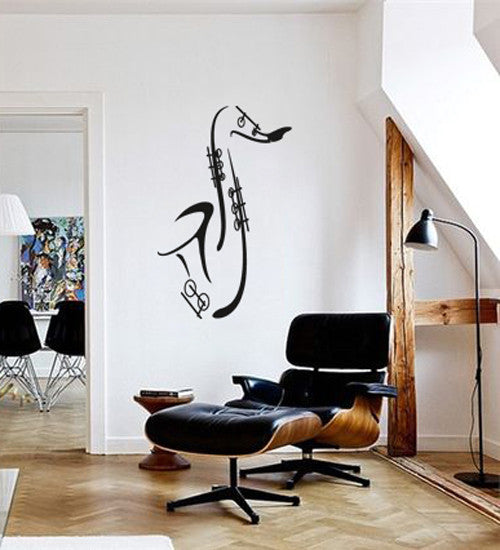 ik155 Wall Decal Sticker Decor jazz musician trumpet music saxophone sax