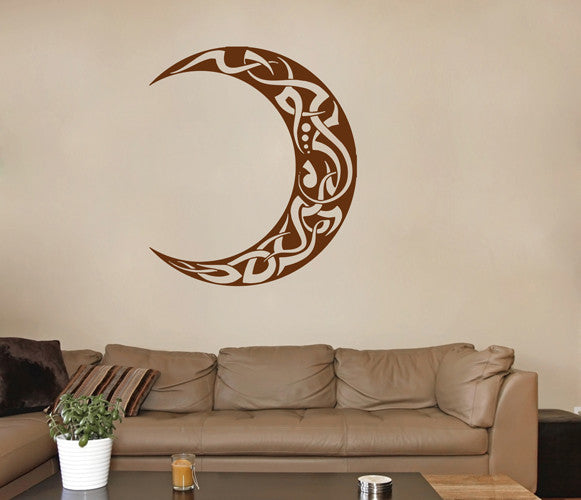 ik1563 Wall Decal Sticker Month Moon Tattoo style living room bedroom room