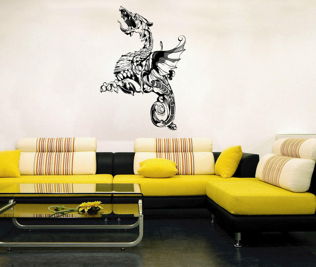 ik1568 Wall Decal Sticker Dragon mythical beast tale bedroom living room