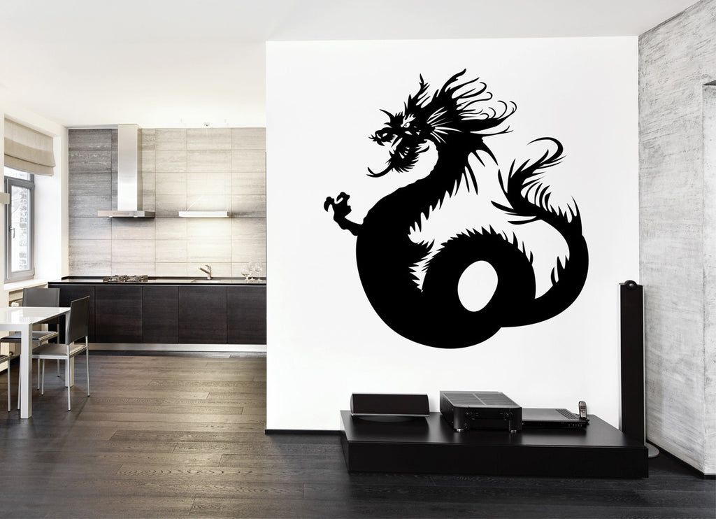 ik1569 Wall Decal Sticker Dragon mythical beast tale bedroom living room