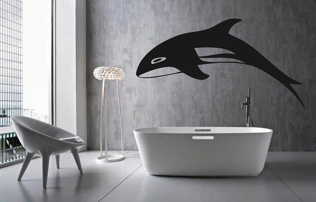 ik1572 Wall Decal Sticker whale dolphin fish ocean bedroom living room bathroom