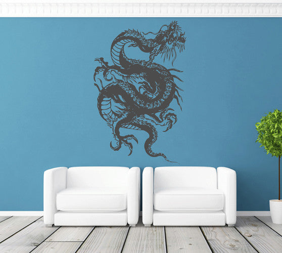 ik1578 Wall Decal Sticker Dragon Chinese mythological beast bedroom living room