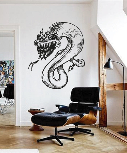 ik1586 Wall Decal Sticker Dragon mythical animal living bedroom teens