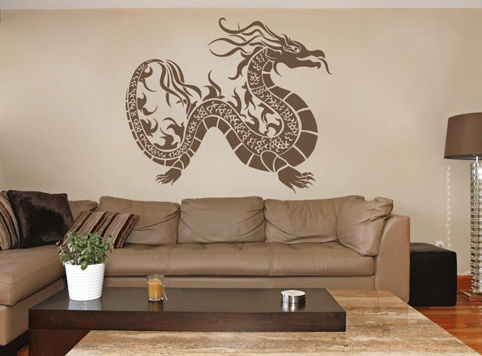 ik1587 Wall Decal Sticker Dragon mythical animal living bedroom teens