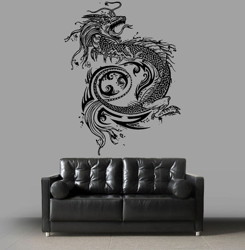 ik1591 Wall Decal Sticker Dragon mythical animal living bedroom teens