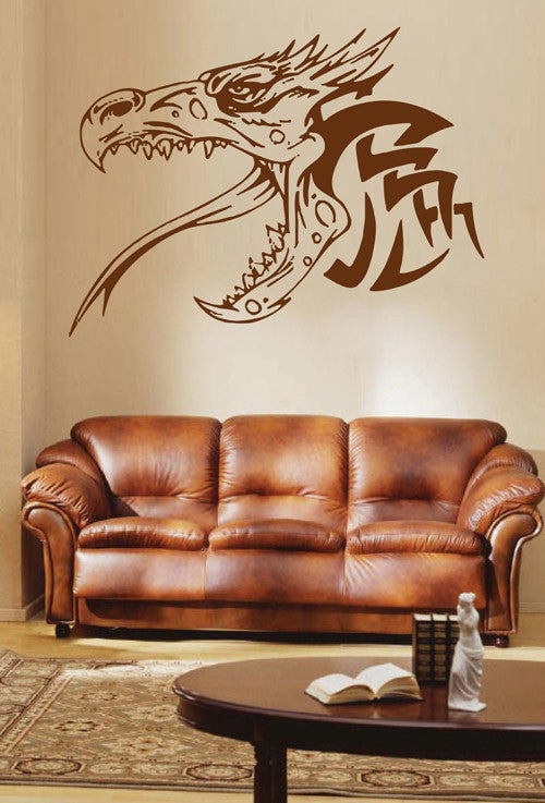 ik1596 Wall Decal Sticker Dragon mythical animal living bedroom teens