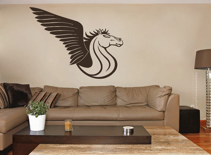 ik1605 Wall Decal Sticker Pegasus horse mythical animal living bedroom teens