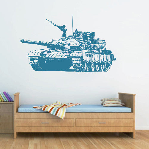 ik1606 Wall Decal Sticker Tank military equipment US Army children's bedroom