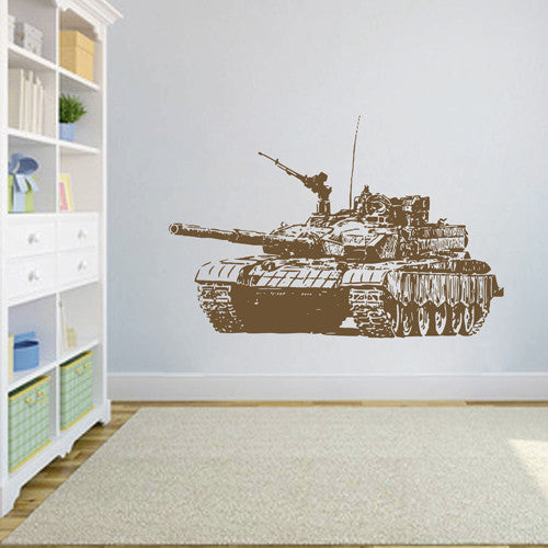 ik1608 Wall Decal Sticker Tank military equipment US Army children's bedroom
