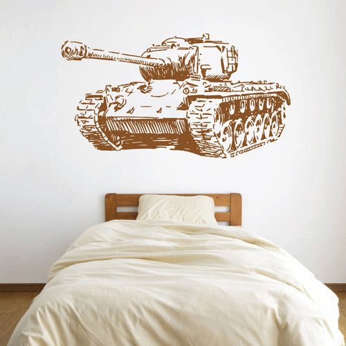 ik1610 Wall Decal Sticker Tank military equipment US Army children's bedroom