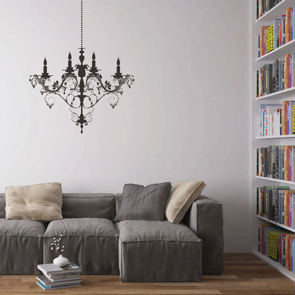 ik1618 Wall Decal Sticker vintage chandelier lamp bedroom living room