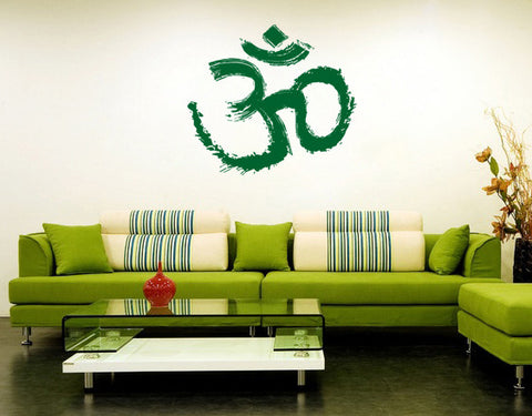 ik164 Wall Decal Sticker Decor symbol Hinduism interior bed
