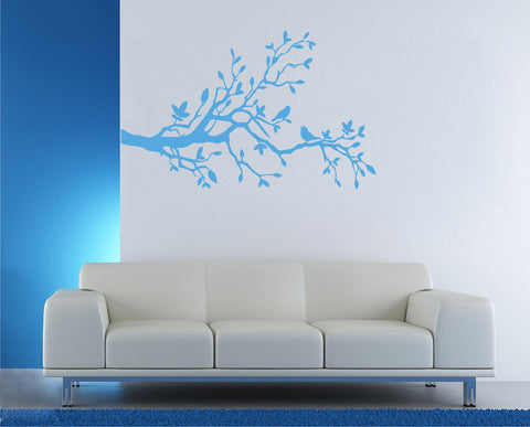 ik165 Wall Decal Sticker Decor branch birds wood interior bed