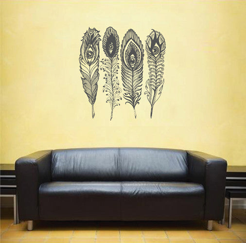 ik1665 Wall Decal Sticker Indian peacock bird sacred animals living bedroom