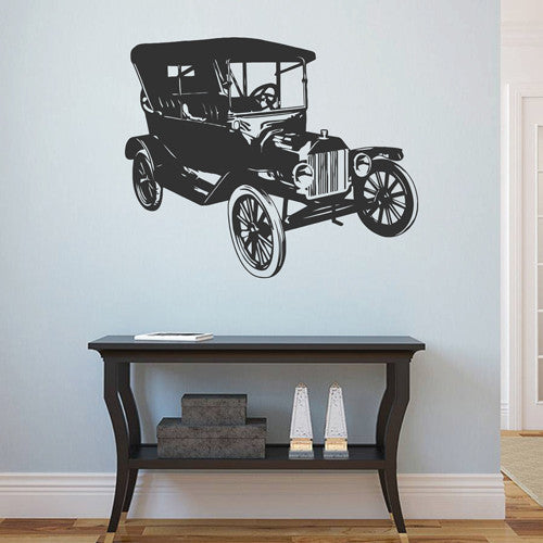 ik1676 Wall Decal Sticker old car transport retro living room children's room