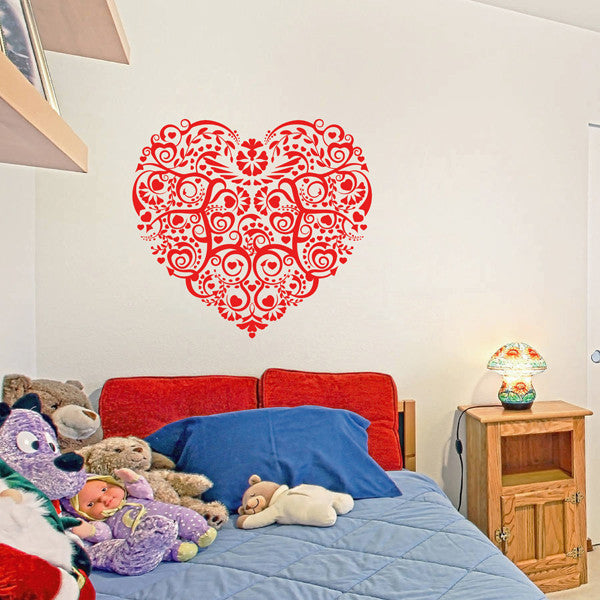 ik1679 Wall Decal Sticker heart flower decoration living room children's