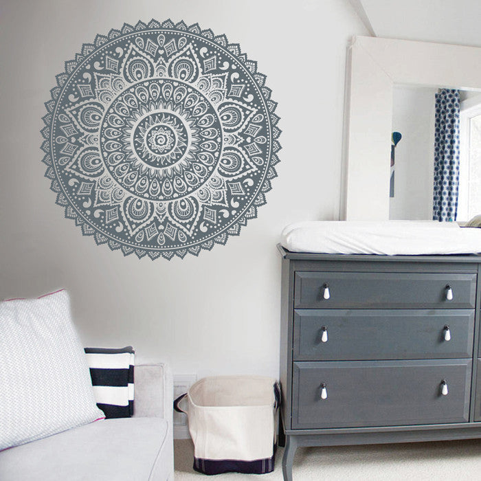 ik1680 Wall Decal Sticker mandala ornament living room bedroom