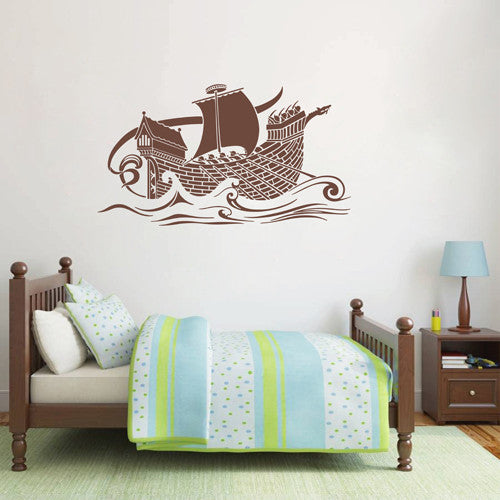 ik1684 Wall Decal Sticker Ship galley Romans Rome Sea children's Living Room