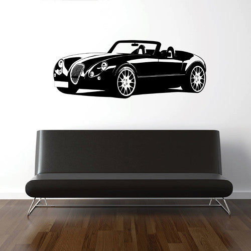 ik1698 Wall Decal Sticker retro car Transportation living room bedroom