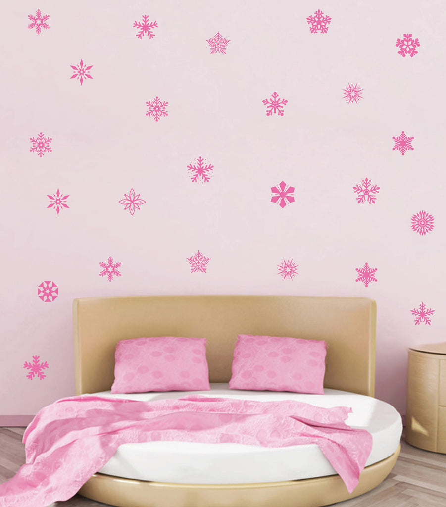 ik1699 Wall Decal Sticker snowflakes snow winter ice lounge children's bedroom