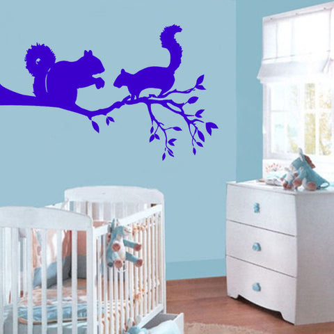 ik169 Wall Decal Sticker Decor squirrel a tree nuts interior kids