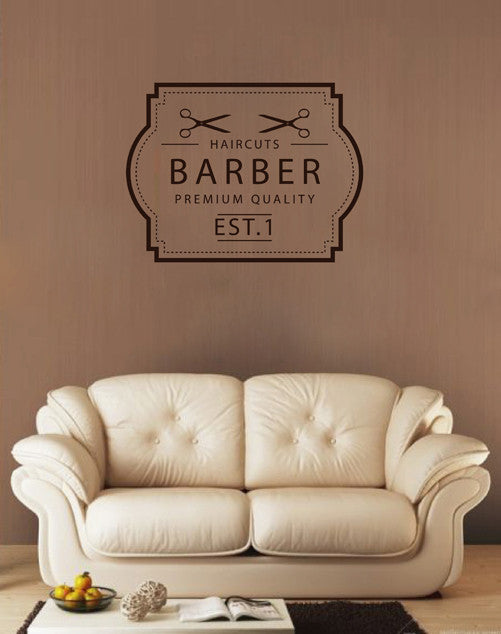 ik1703 Wall Decal Sticker hairdresser hair salon barbershop
