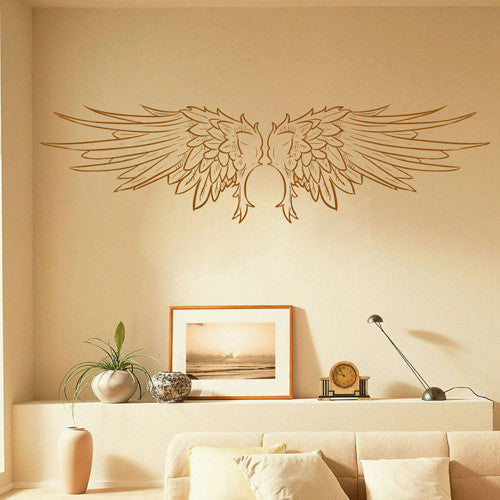 ik1711 Wall Decal Sticker angel wing feathers baby room Bedroom