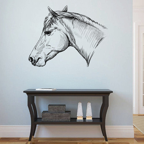 ik1717 Wall Decal Sticker horse head animal living bedroom