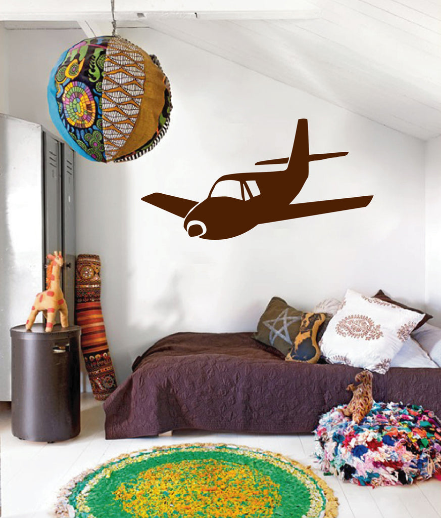 ik171 Wall Decal Sticker Decor toy airplane sky interior bed kids