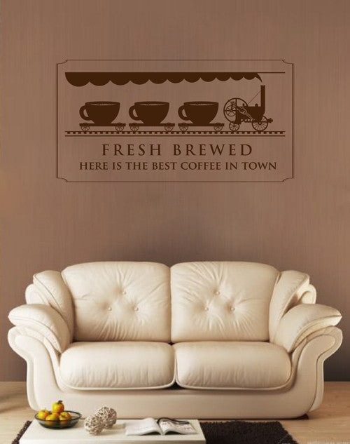 ik1723 Wall Decal Sticker coffee cup tea coffee shop restaurant